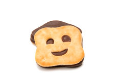 изолированное печенье smiley Стоковая Фотография RF
