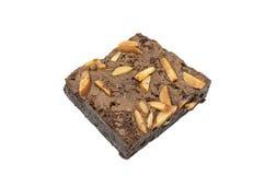 Изолированное пирожное шоколада миндалины Стоковое Изображение