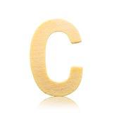 Изолированное письмо c одиночного прописного блока деревянное Стоковое Изображение