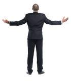Изолированное положение бизнесмена Стоковая Фотография RF