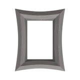 изолированное рамкой xxl сбора винограда изображения белое деревянное Иллюстрация вектора черной древесины Стоковые Фотографии RF