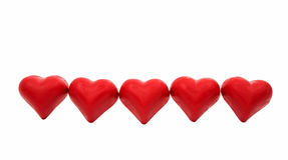 Изолированное сердце конфеты красное Стоковая Фотография