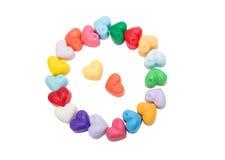 Изолированное сердце мыла Стоковая Фотография RF