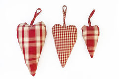 Изолированное сердце тканей в затрапезном стиля Стоковые Фотографии RF