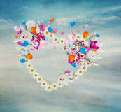 Изолированное сердце цветка, Стоковые Фотографии RF