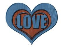 изолированное сердце Стоковая Фотография RF