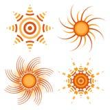 Изолированное собрание значков Солнця иллюстрация штока