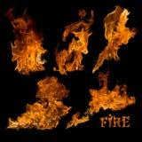 Изолированное собрание огня Стоковые Изображения