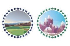 Изолированное собрание природы логотипов Иллюстрация вектора
