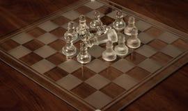изолированное стекло шахмат предпосылки голубое тонизировало белизну Стоковое Фото