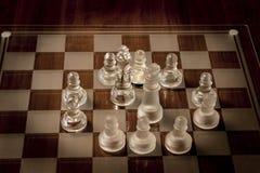 изолированное стекло шахмат предпосылки голубое тонизировало белизну Стоковое Изображение RF