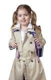 Изолированное счастливое зрачка девушки ребенка Стоковое Фото