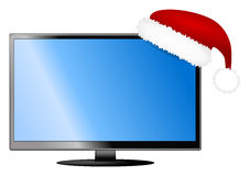 Изолированное ТВ рождества иллюстрация штока