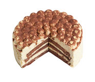 Изолированное тирамису торта Стоковое Изображение
