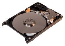 Изолированное фото компьтер-книжки и дисковода жесткого диска ПК внутрь, стоковые фотографии rf