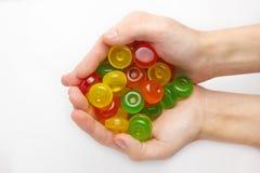 изолированное цветастое конфет Стоковое Изображение