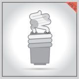 Изолированное электрическое с вектора силы выключения технической лампы установленного белого Стоковые Изображения