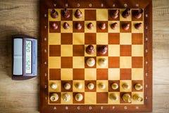 изолированное chessboard деревянное предмета белое Стоковые Изображения