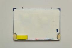 Изолированное whiteboard с другими инструментами Стоковые Фотографии RF