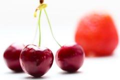 3 изолированной вишни Стоковые Изображения