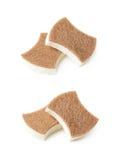 2 изолированной губки кухни Стоковое фото RF