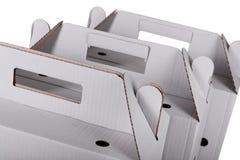 3 изолированной картонной коробки Стоковые Фотографии RF
