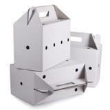 3 изолированной картонной коробки Стоковая Фотография RF