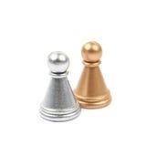 2 изолированной пешки шахмат Стоковые Изображения