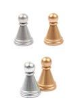 2 изолированной пешки шахмат Стоковые Фотографии RF
