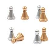 2 изолированной пешки шахмат Стоковое Фото