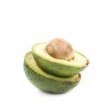 2 изолированной половины авокадоа Стоковое Изображение RF