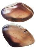 2 изолированной драгоценной камня халцедона Стоковая Фотография RF