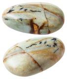2 изолированной драгоценной камня яшмы (Китая) Стоковое Изображение RF