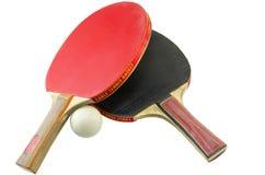 2 изолированной ракетки настольного тенниса Стоковые Изображения
