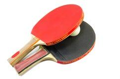 2 изолированной ракетки настольного тенниса Стоковая Фотография