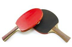 2 изолированной ракетки настольного тенниса Стоковое Изображение