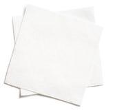 2 изолированной салфетки белых квадрата бумажных Стоковая Фотография RF