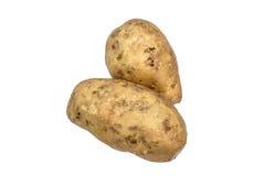 2 изолированной части высокого витамина органического русого Яма, Стоковая Фотография RF