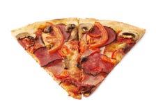 2 изолированной части пиццы Стоковая Фотография