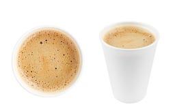 2 изолированной чашки кофе Стоковые Изображения