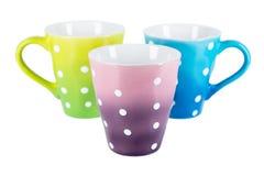 3 изолированной чашки Стоковое Изображение