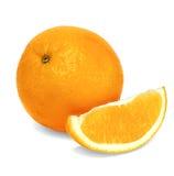 Изолированные апельсины на белой предпосылке Стоковая Фотография