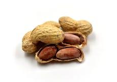 изолированные арахисы Стоковая Фотография RF