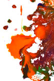 Изолированные большие заплаты пятнают помарки цветов смешанных выплеском Стоковые Фотографии RF