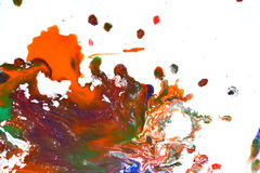 Изолированные большие заплаты пятнают помарки цветов смешанных выплеском Стоковое Фото
