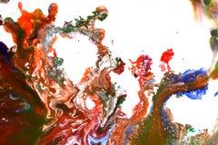 Изолированные большие заплаты пятнают помарки цветов смешанных выплеском Стоковое Изображение