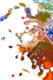 Изолированные большие заплаты пятнают помарки цветов смешанных выплеском Стоковые Фото