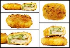 Изолированные бургеры торта рыб Стоковое фото RF