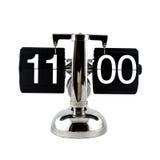 Изолированные винтажные часы сальто на часах ` 11 o Стоковое Изображение