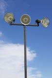Изолированные внешние атлетические света суда Стоковые Фото